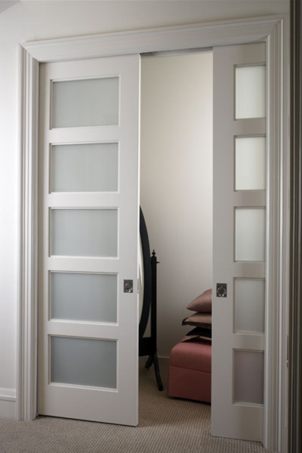 Pocket Doors With Glass Panes
