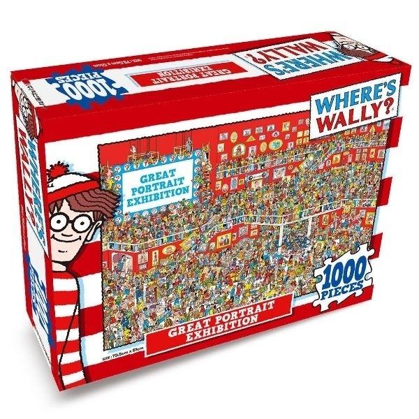 [02378] Quebra cabeça - Where´s Wally - Great Portrait Exhibition - 1000 peças
