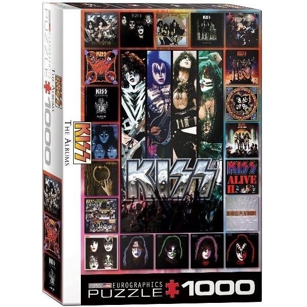 [10015] Quebra cabeça - Kiss, The Albuns - 1000 peças