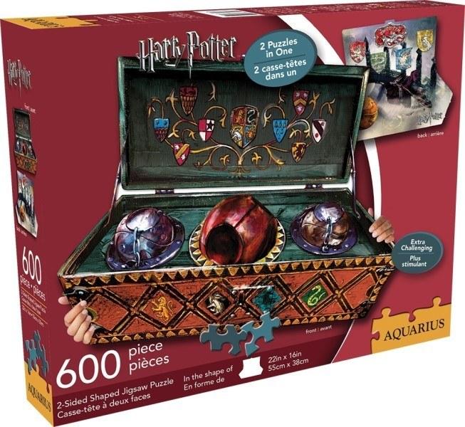 [10187] Quebra cabeça - 2 - sided Harry Potter Quidditch Set 3D - 600 peças