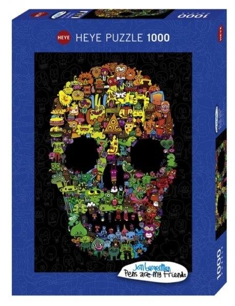 [10342] Quebra cabeça - Doodle Skull - 1000 peças