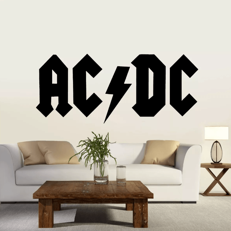 Adesivo De Parede - AC/DC