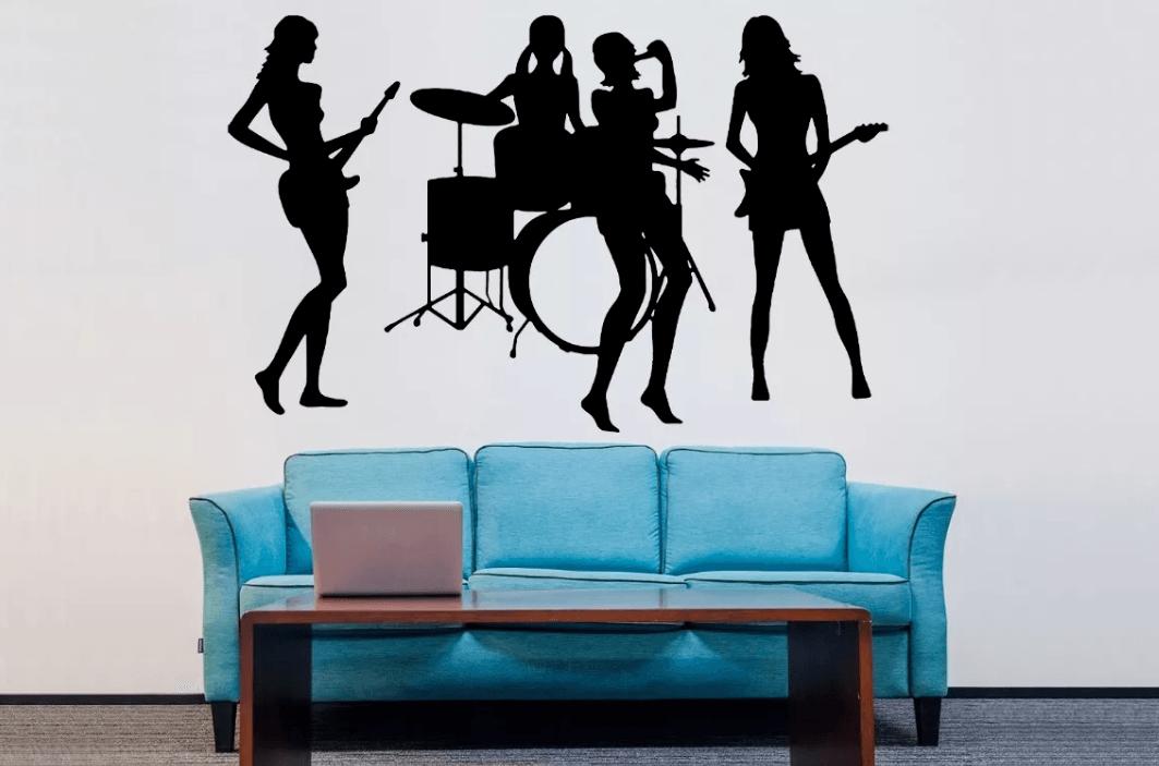 Adesivo De Parede - Banda Mulheres