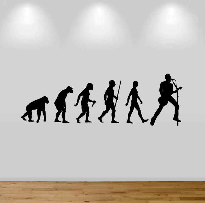 Adesivo De Parede - Evolução Guitarrista