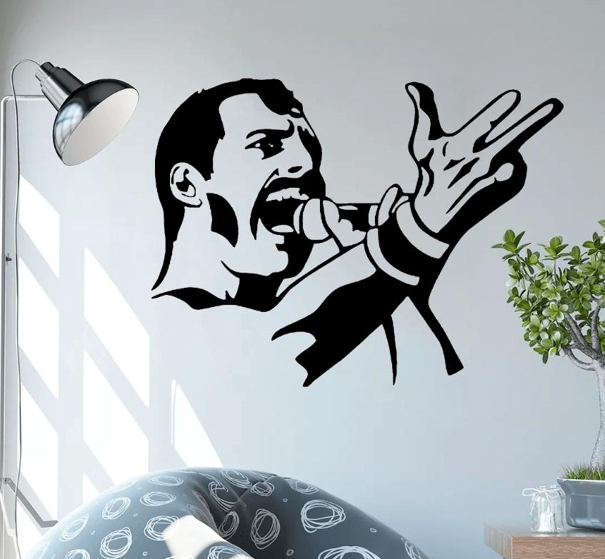 Adesivo De Parede - Freddie Mercury