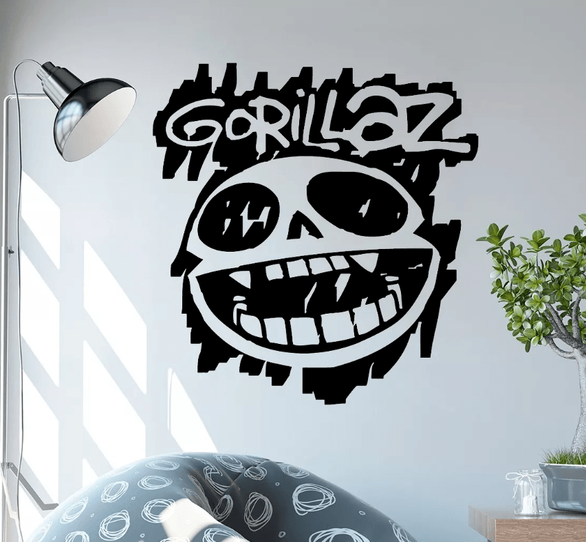 Adesivo De Parede - Gorillaz