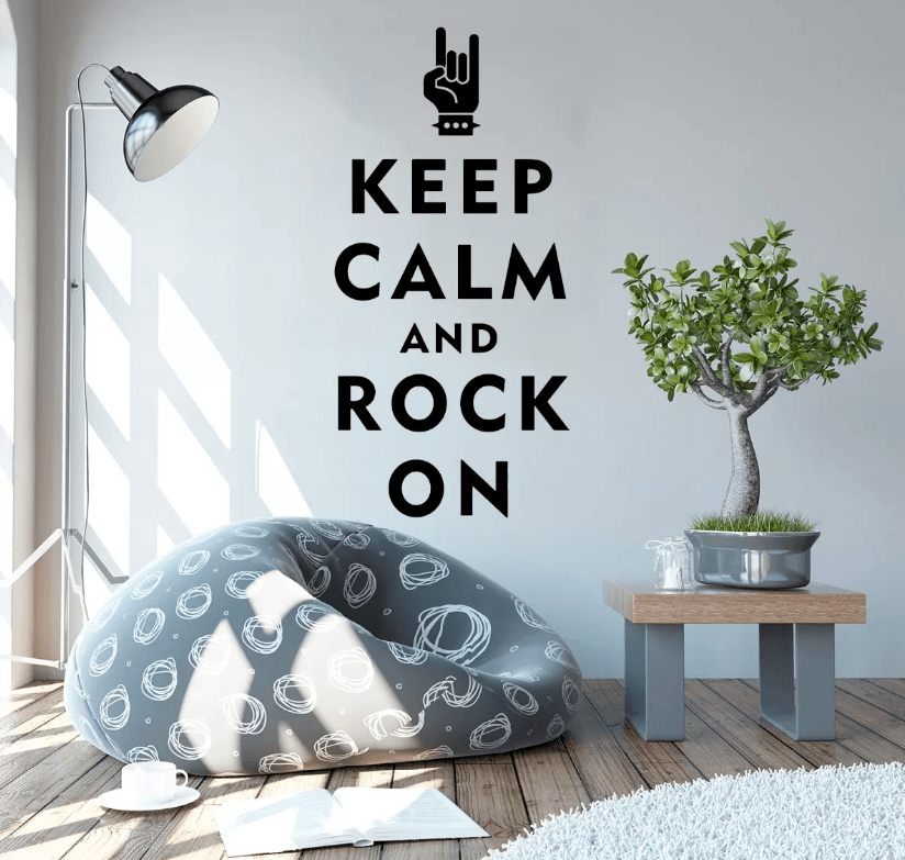 Adesivo De Parede - Keep Calm And Rock On