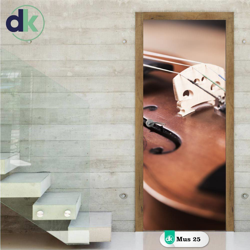 Adesivo de Porta - Violino