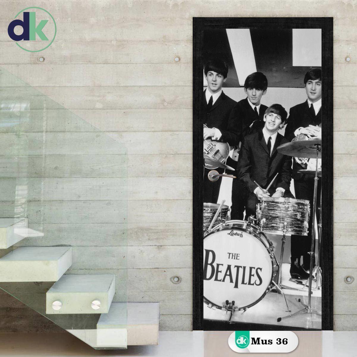 Adesivo Porta - Beatles Banda