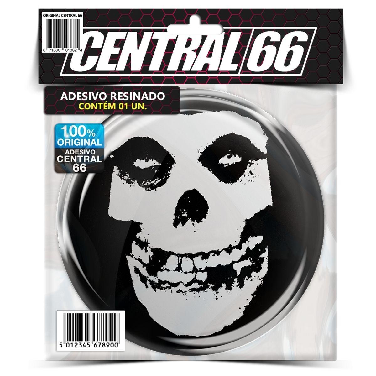 Adesivo Redondo Misfits Caveira Mascote – Central 66