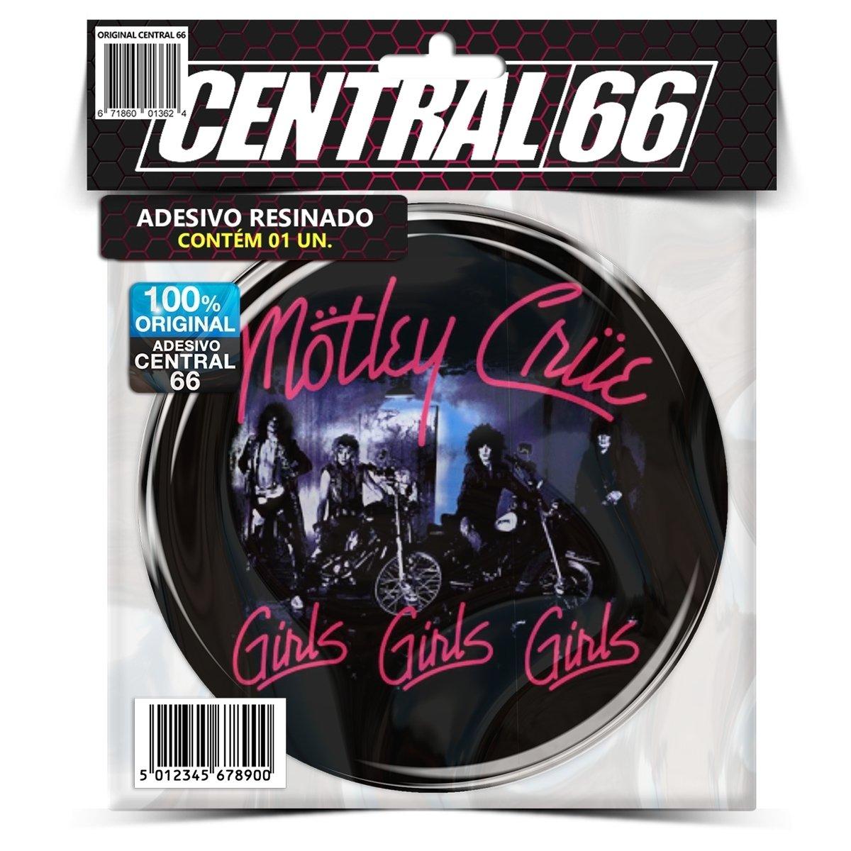 Adesivo Redondo Motley Crue Girls Girls Girls  – Central 66