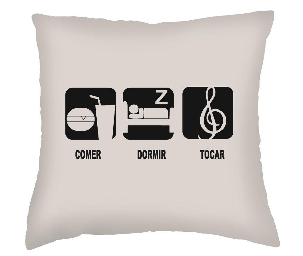 Almofada comer dormir e tocar