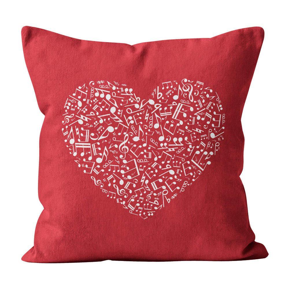 Almofada Pillowshow Amor Música Instrumentos Musicais Lov001