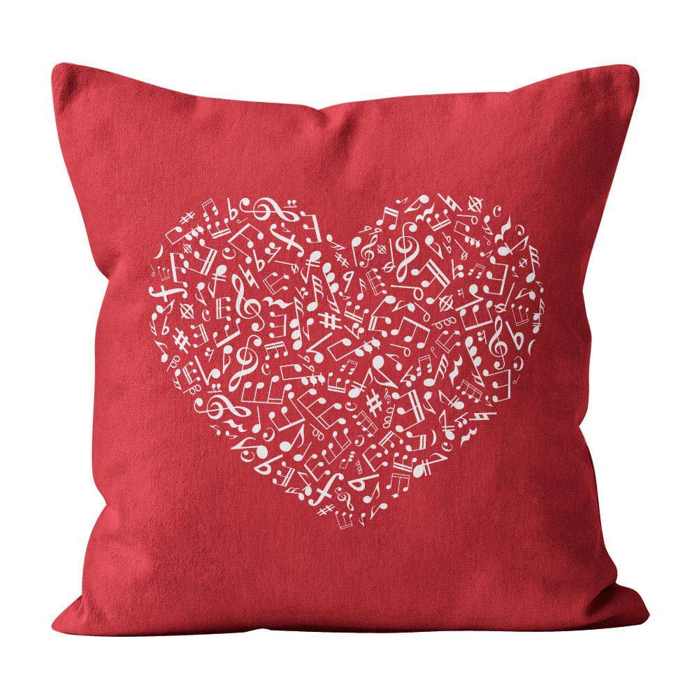Almofada Pillowshow Amor Música Instrumentos Musicais Lov003