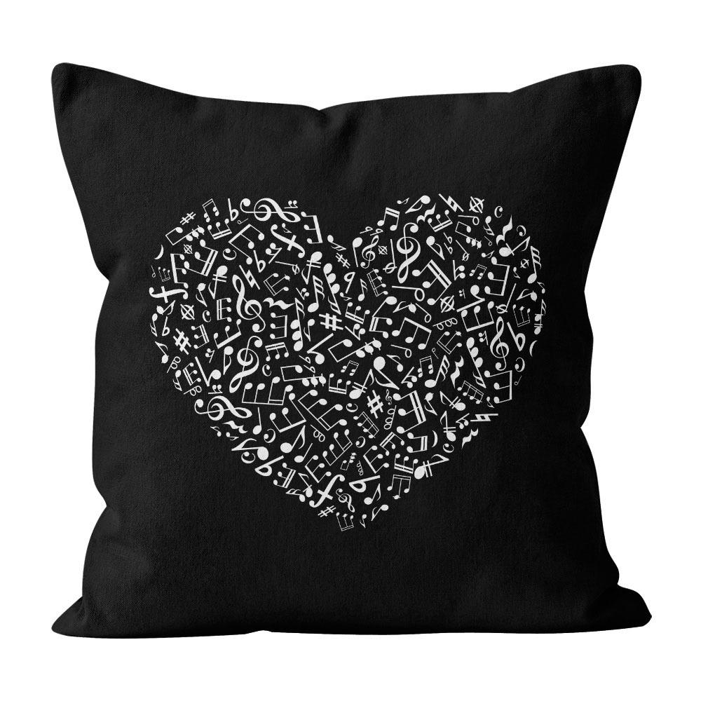 Almofada Pillowshow Amor Música Instrumentos Musicais Lov004