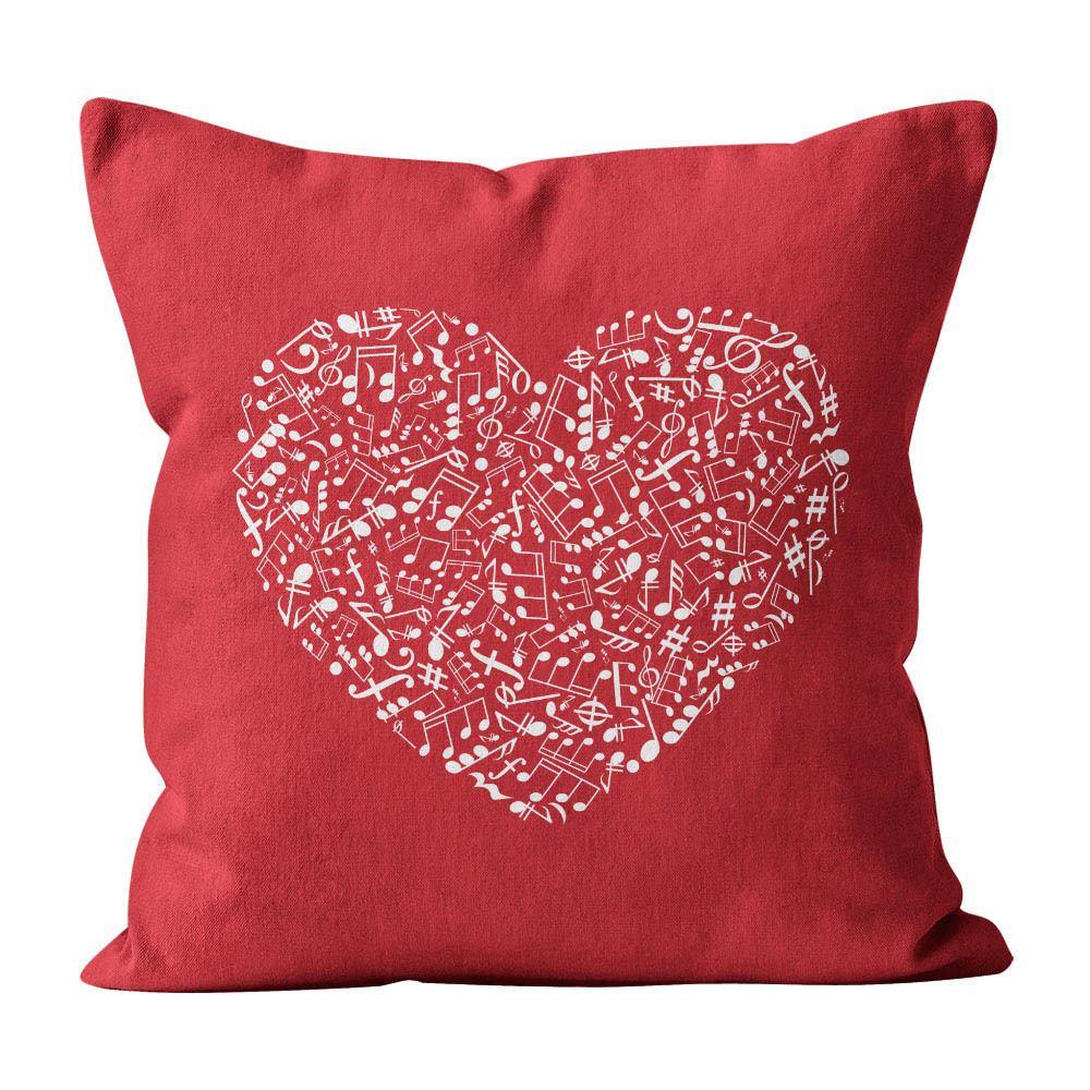 Almofada Pillowshow Amor Música Instrumentos Musicais Lov005