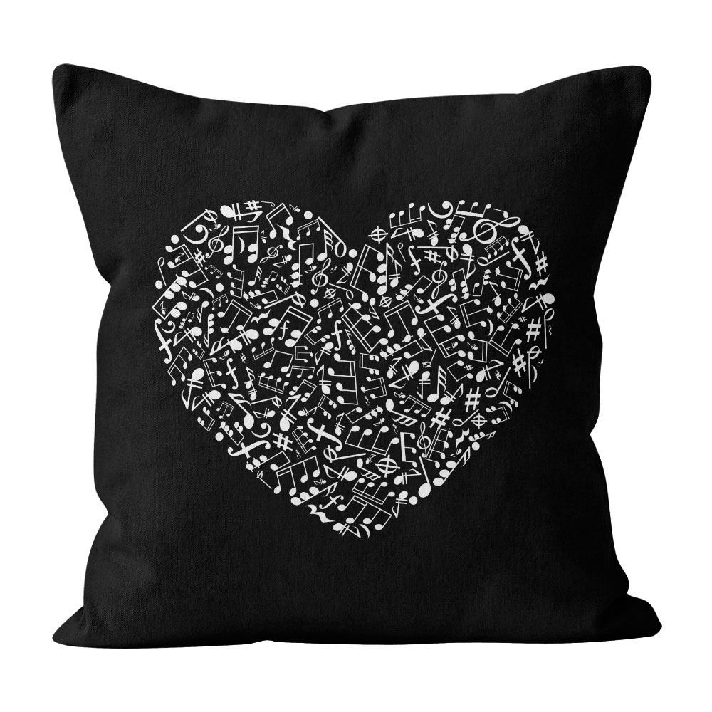 Almofada Pillowshow Amor Música Instrumentos Musicais Lov006