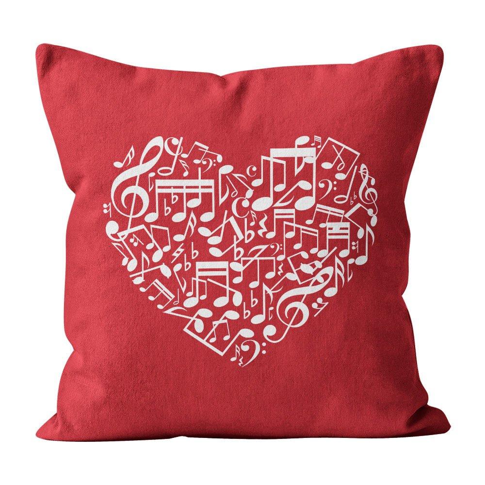 Almofada Pillowshow Amor Música Instrumentos Musicais Lov007