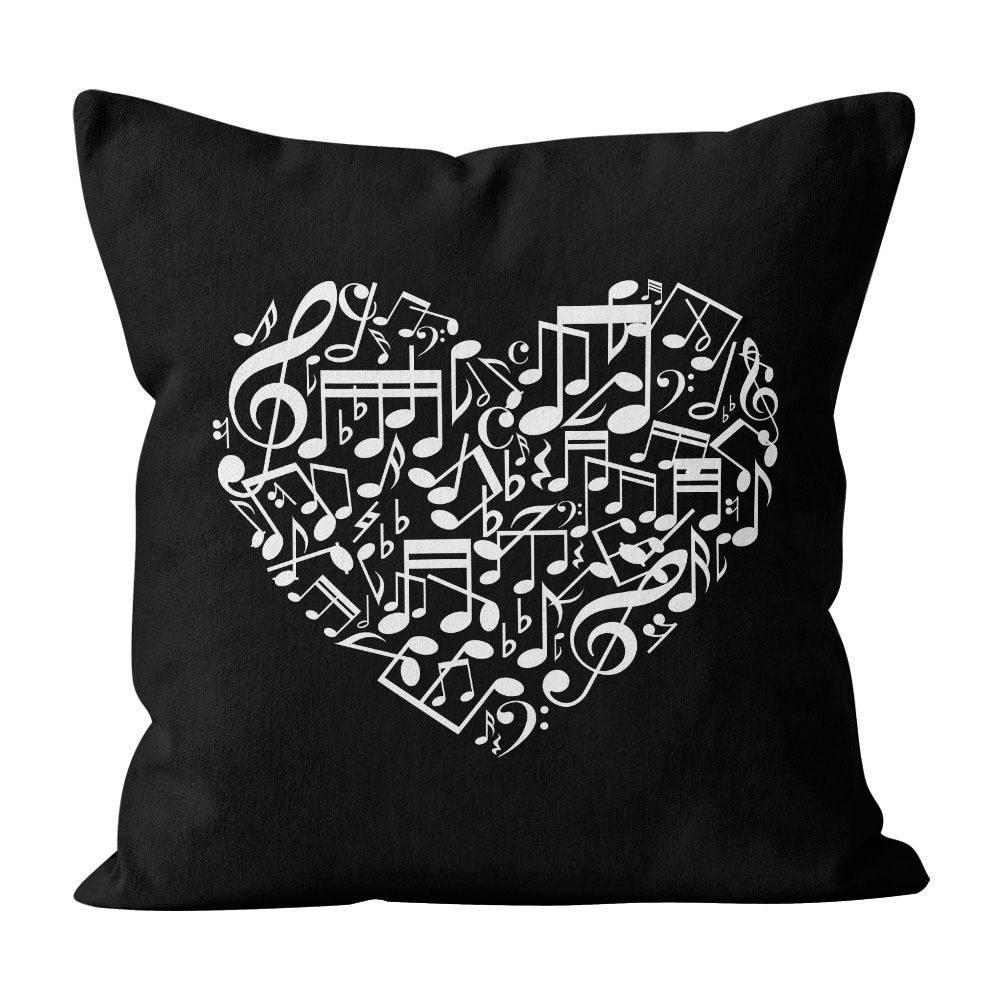 Almofada Pillowshow Amor Música Instrumentos Musicais Lov008