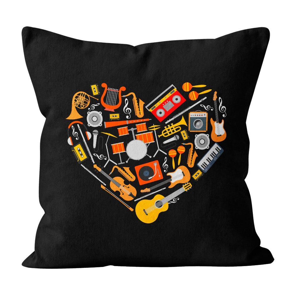 Almofada Pillowshow Amor Música Instrumentos Musicais Lov010