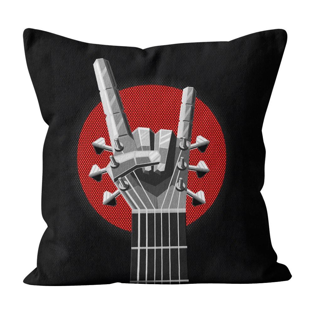 Almofada Pillowshow Square Guitarra Mão Heavy Metal Squ020