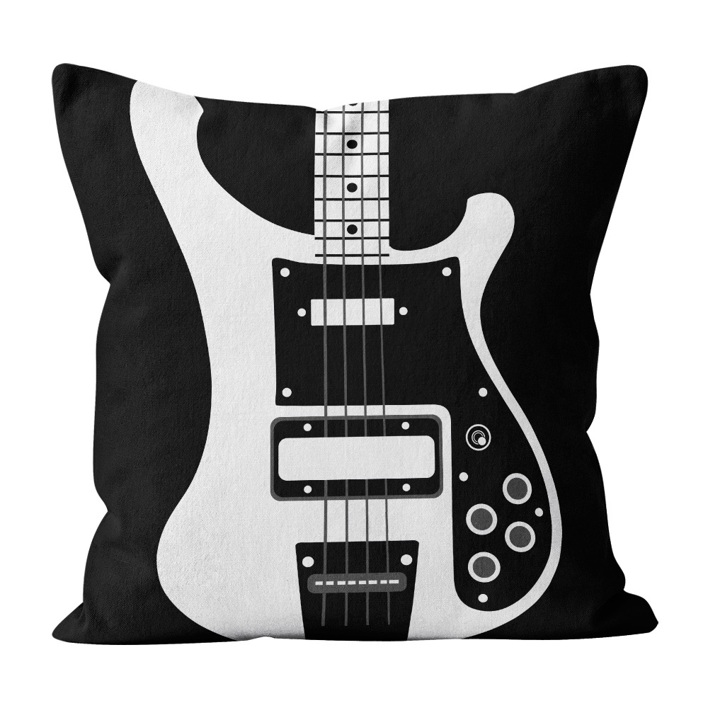 Almofada Pillowshow Square Rock Baixo Rickenbacker Squ009