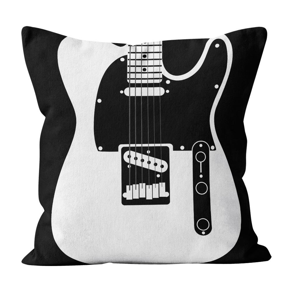 Almofada Pillowshow Square Rock Guitarra Telecaster Squ012