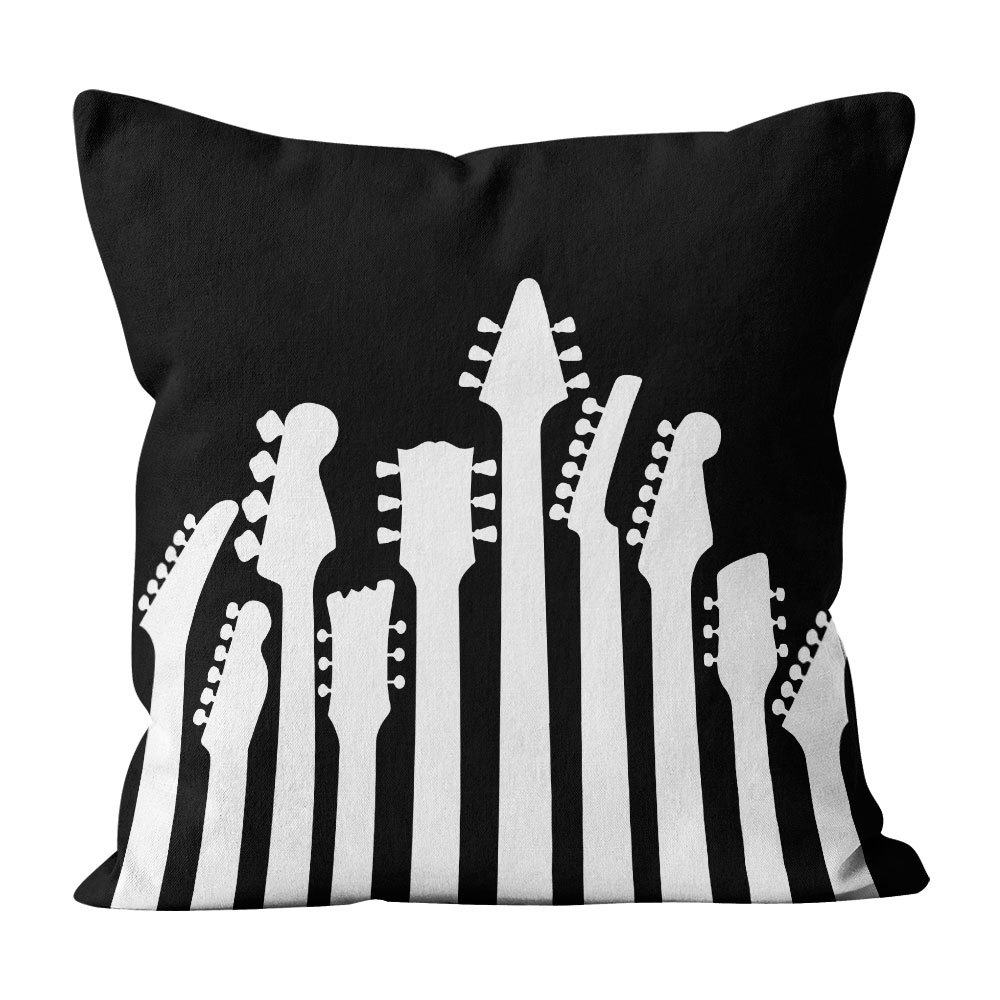 Almofada Pillowshow Square Rock Headstock Guitarras Baixo Squ019