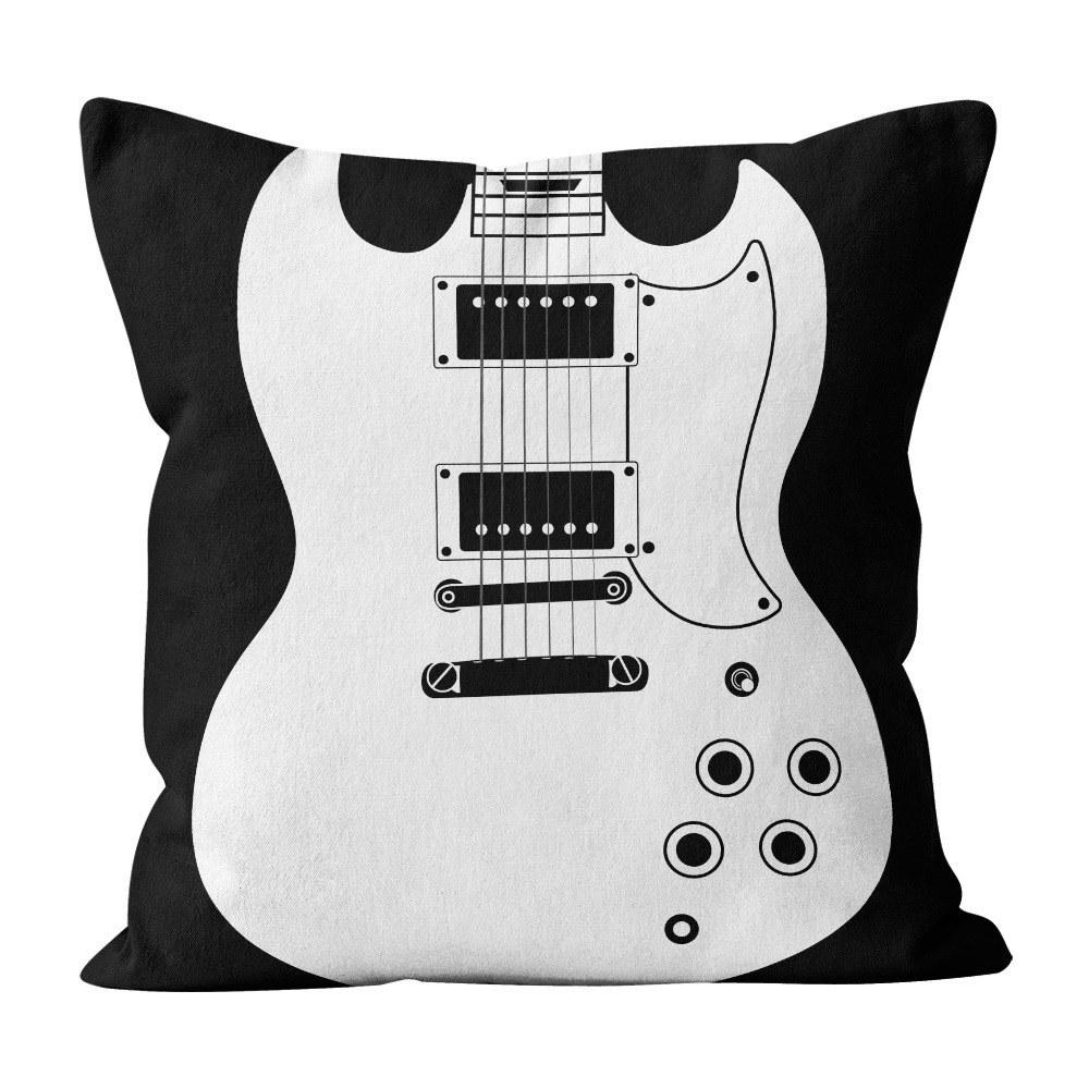 Almofada Pillowshow Square Rock Música Guitarra Sg Squ010