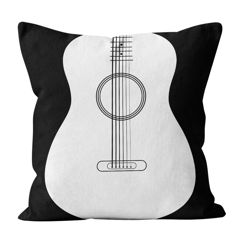 Almofada Pillowshow Square Rock Música Som Violão Squ013
