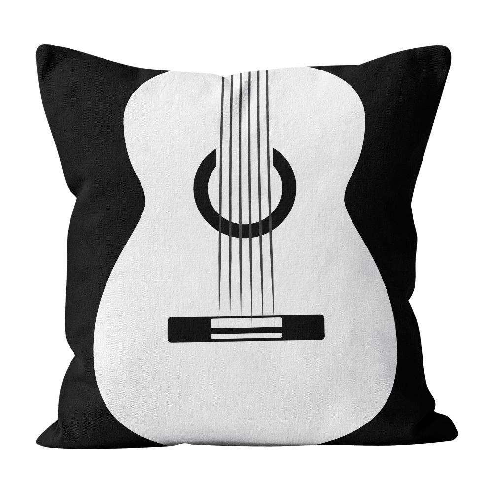 Almofada Pillowshow Square Rock Música Som Violão Squ016