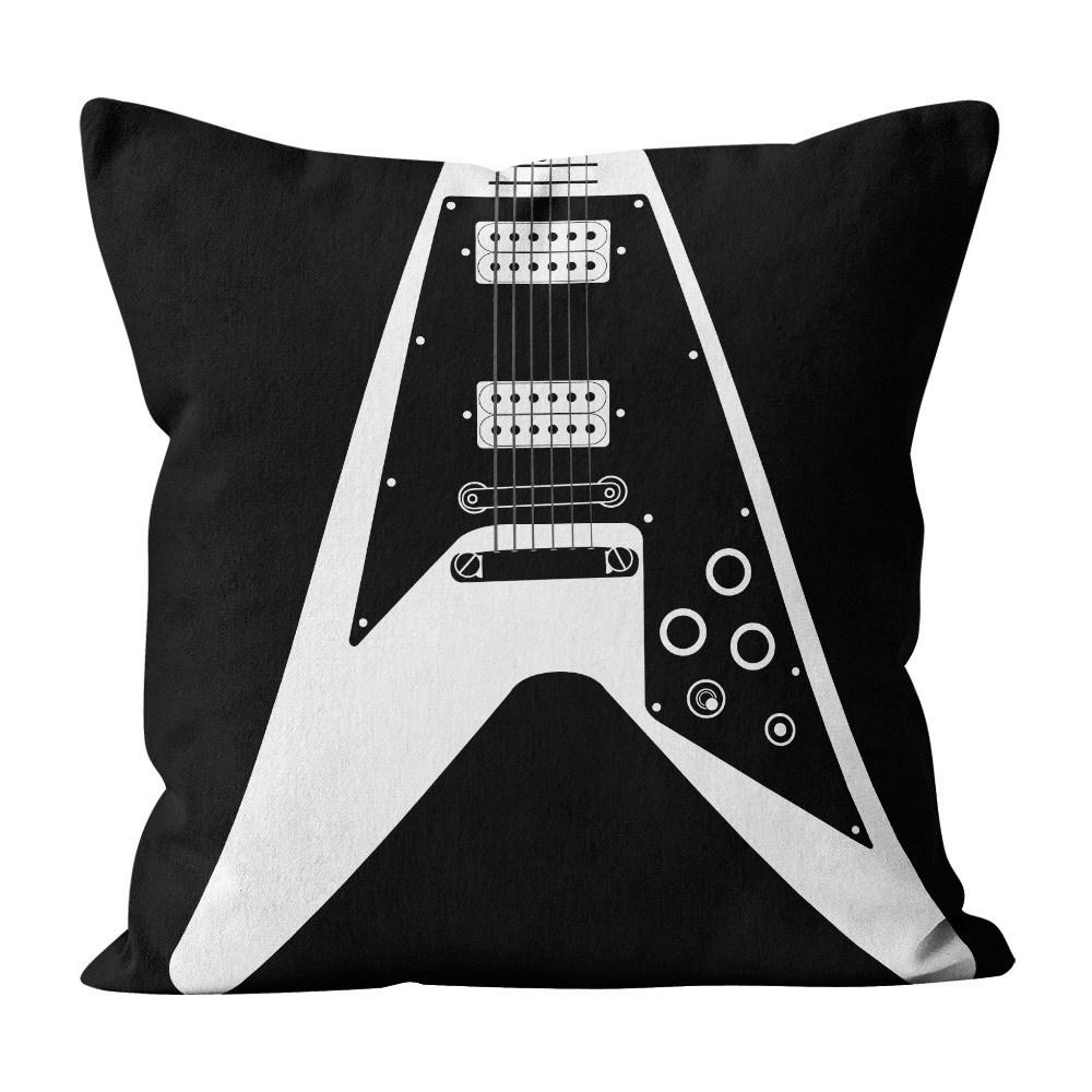 Almofada Pillowshow Square Rock Som Guitarra Flying V Squ003