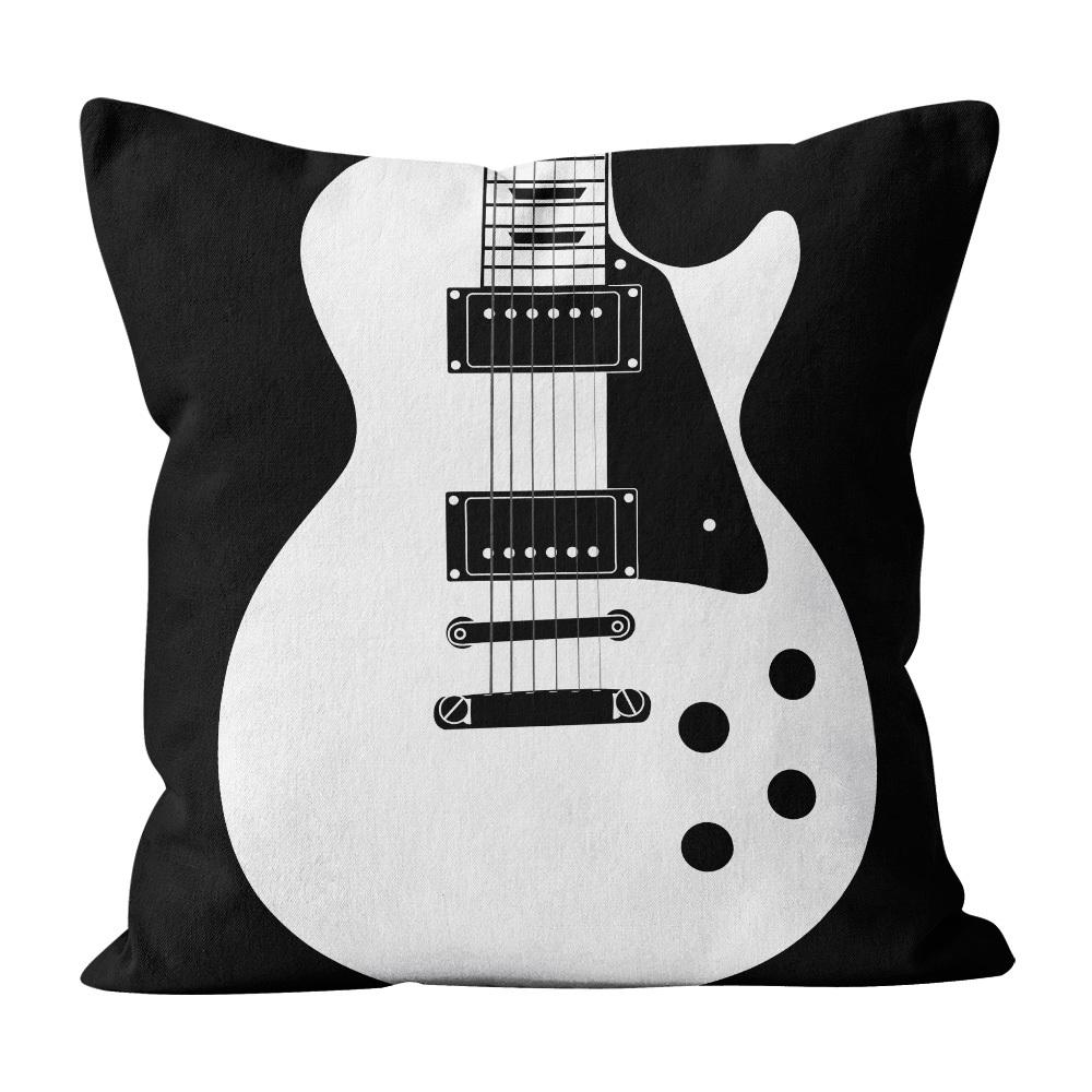 Almofada Pillowshow Square Rock Som Guitarra Les Paul Squ006