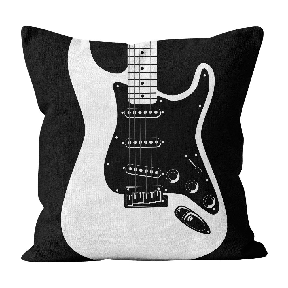 Almofada Pillowshow Square Rock Som Guitarra Strato Squ011