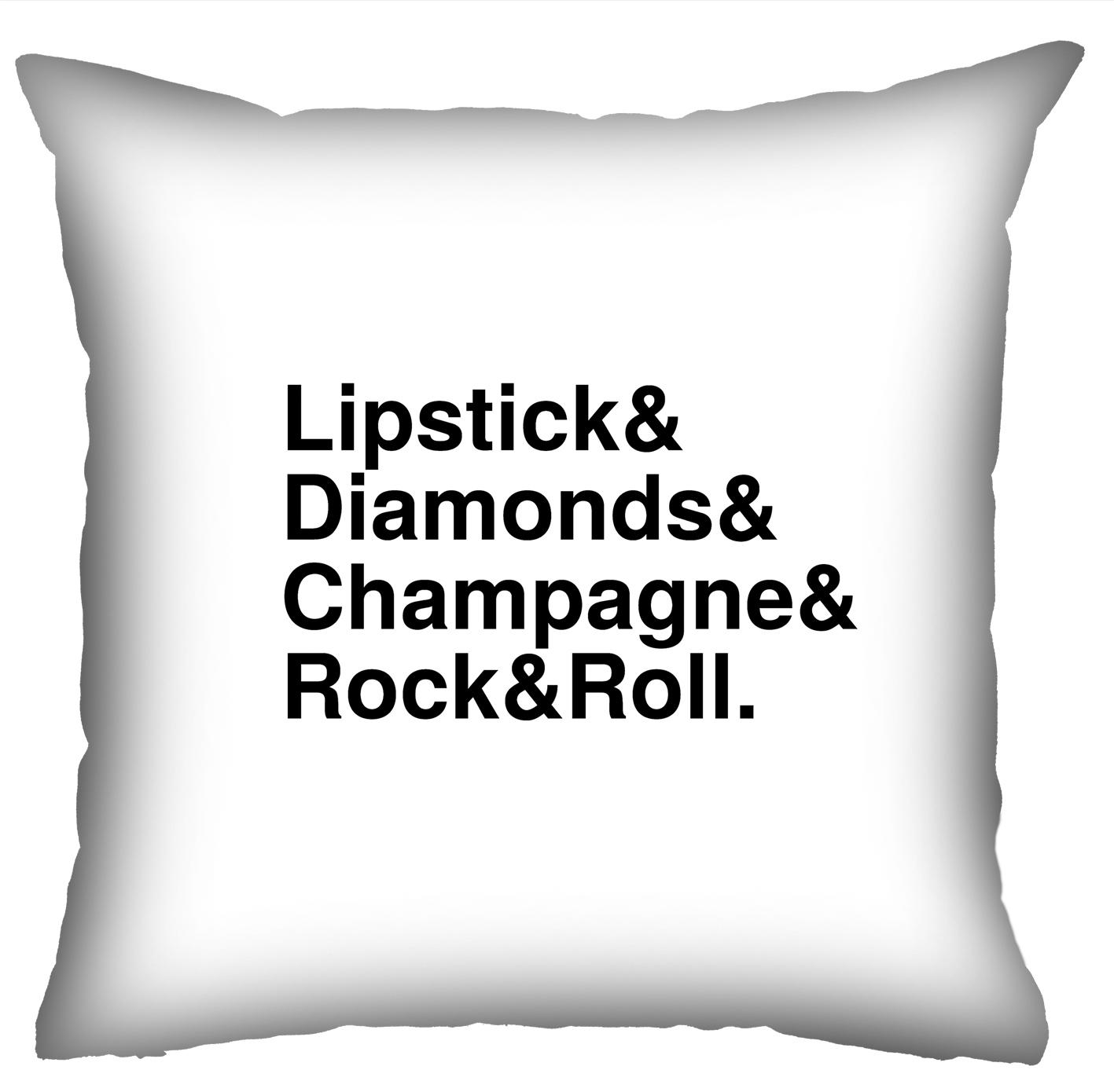 Almofada Rock Use - Glam Rock (Branco)