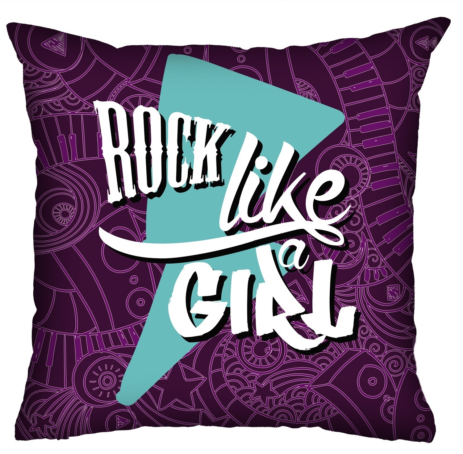 Almofada Rock Use - Rock Like a Girl!