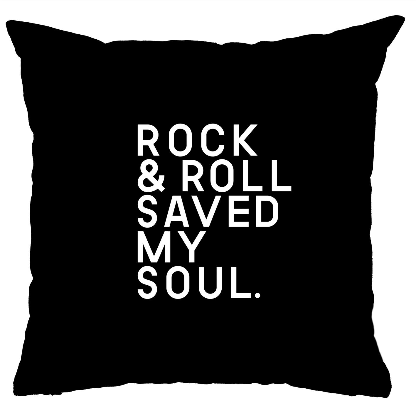 Almofada Rock Use - Rock & Roll Saved My Soul (Preto)