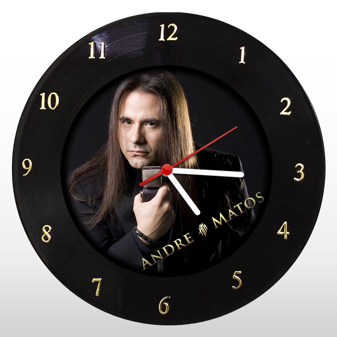 André Matos - Relógio de Parede em Disco de Vinil - Mr. Rock