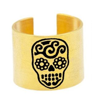 Anel Caveira Mexicana - Dourado