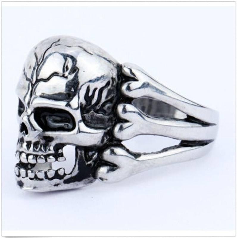 Anel Skull Ossos