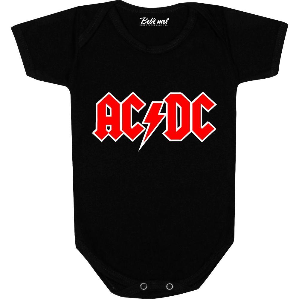 Body Bebê personalizado  AC DC