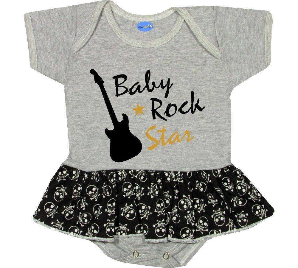 Body Saia Bebê personalizado Baby Rock Star