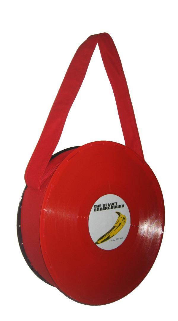 Bolsa Disco Vermelho Velvet