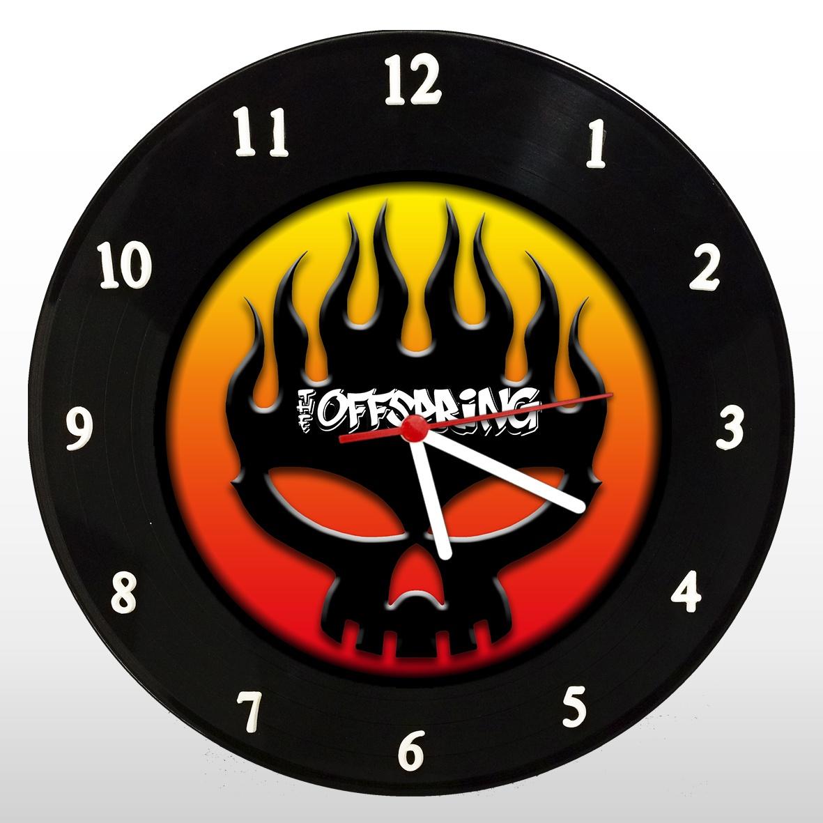 Relógio de Parede em Disco de Vinil Mr. Rock The Offspring