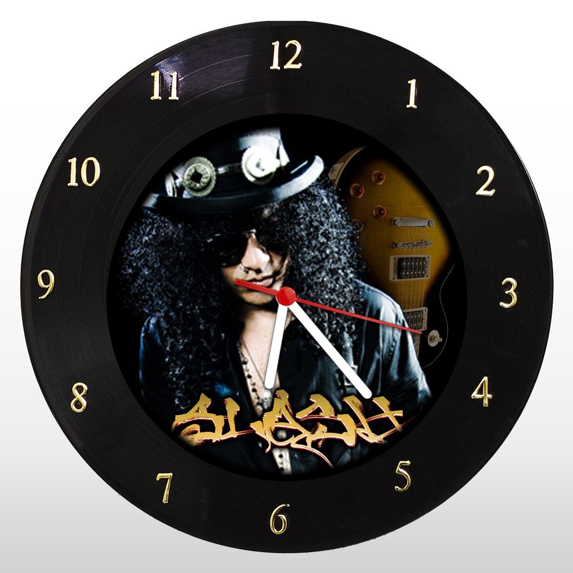 Relógio de Parede em Disco de Vinil Slash - Mr. Rock