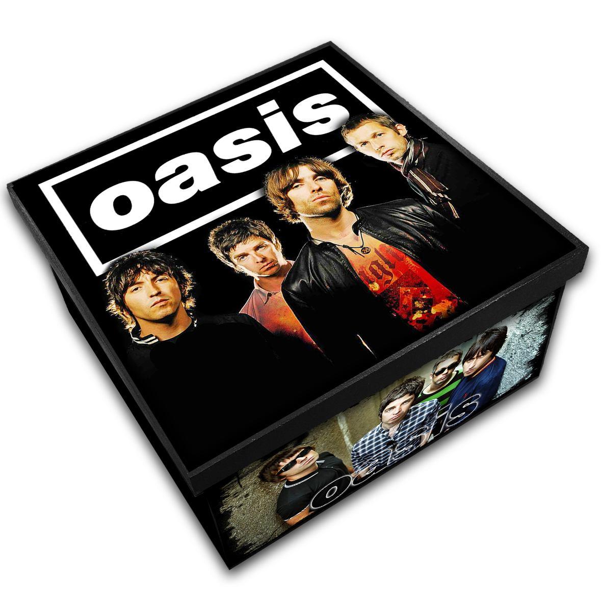 Caixa Organizadora em Madeira MDF Tamanho Médio Mr. Rock Oasis