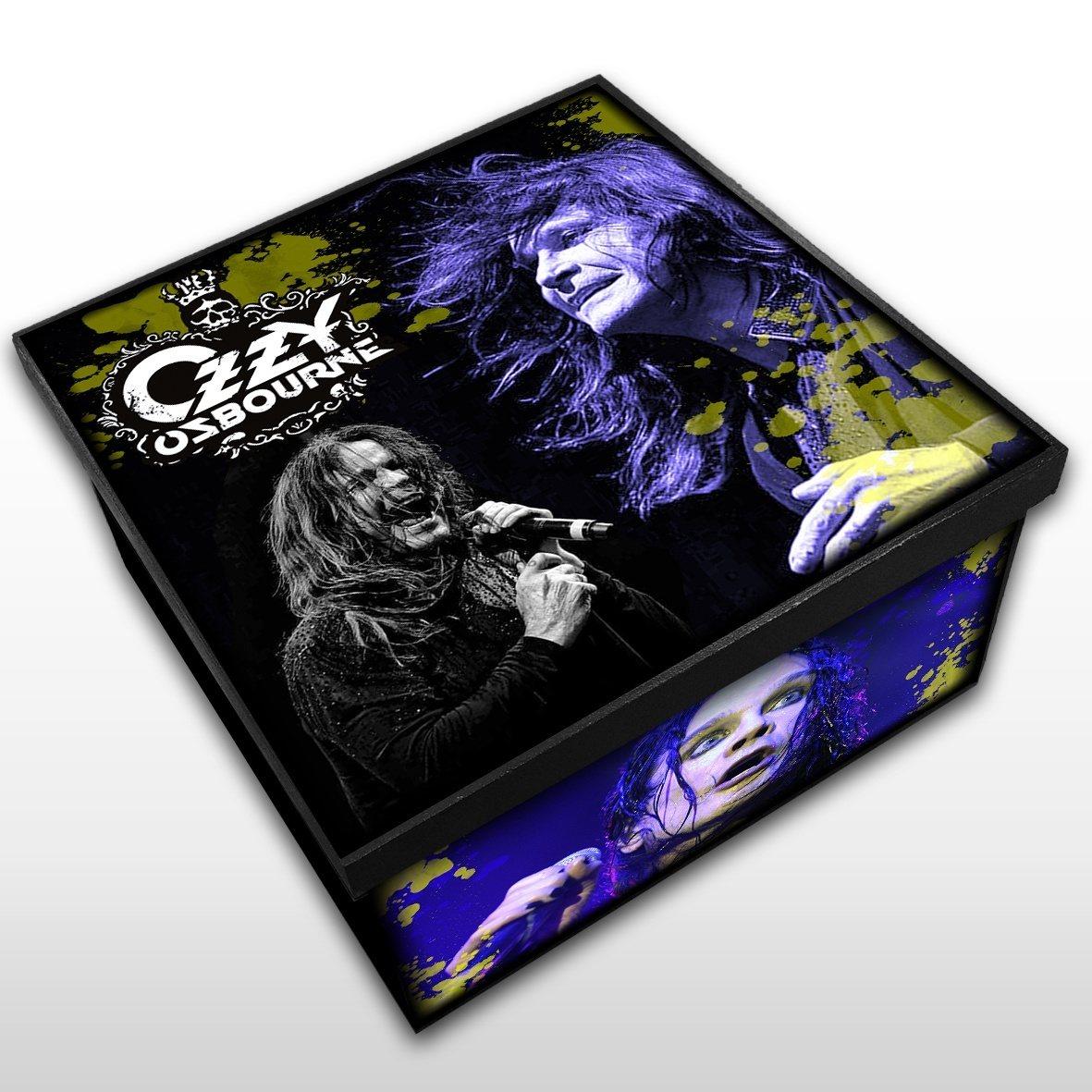 Caixa Organizadora em Madeira MDF Ozzy Osbourne Tamanho Médio - Mr. Rock