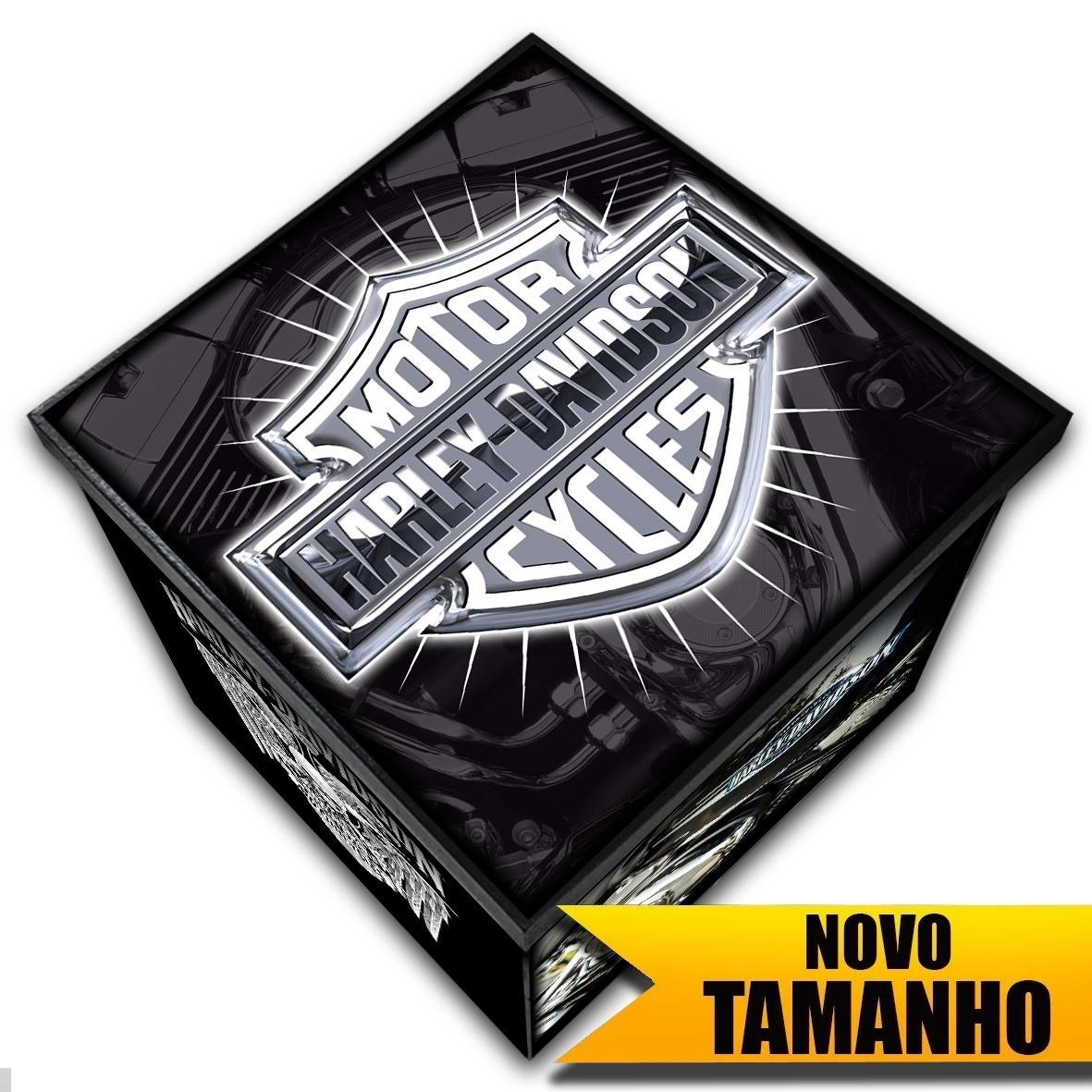 Harley Davidson - Caixa Organizadora em Madeira MDF - Tamanho Grande - Mr. Rock