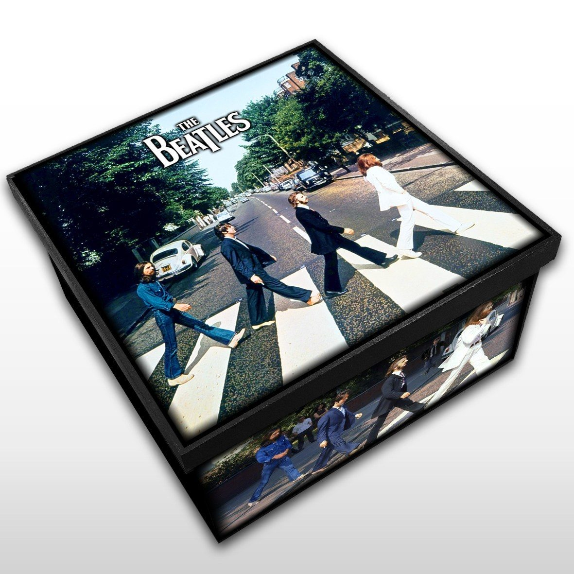 Caixa Organizadora em Madeira MDF The Beatles Tamanho Médio - Mr. Rock