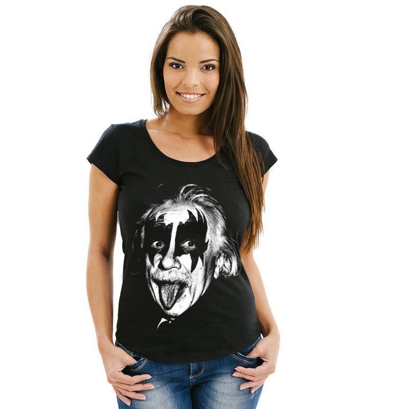 Camiseta Einstein Gene Simmons Feminina